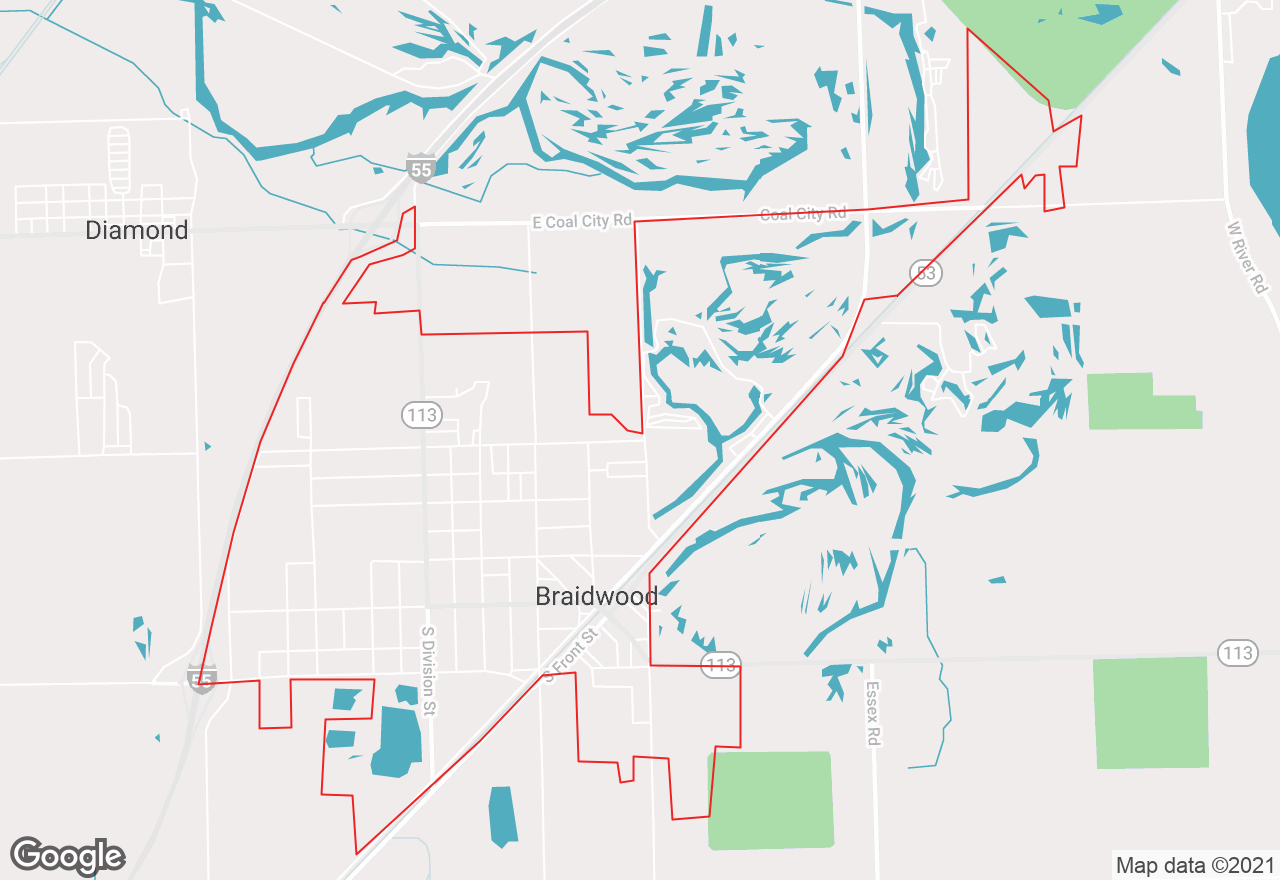 Braidwood map