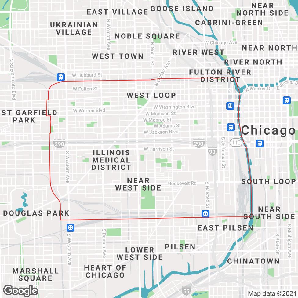 Near West Side map