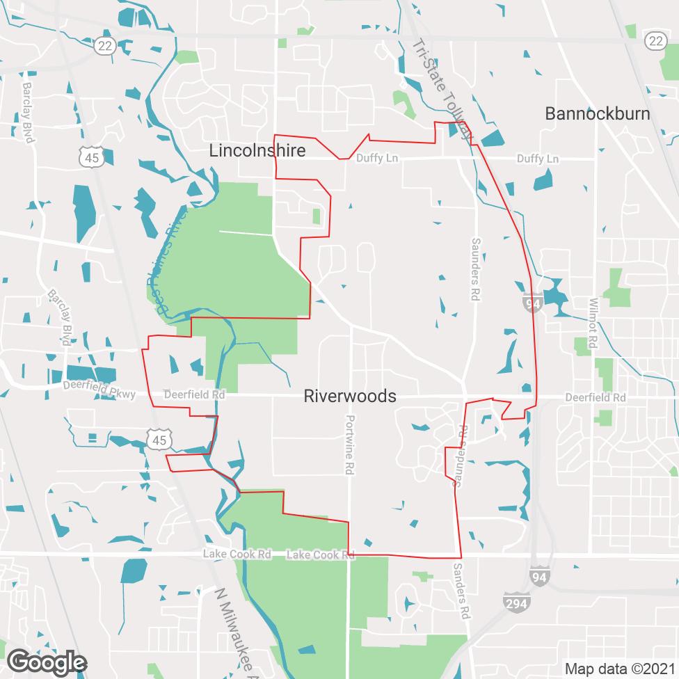 Riverwoods map