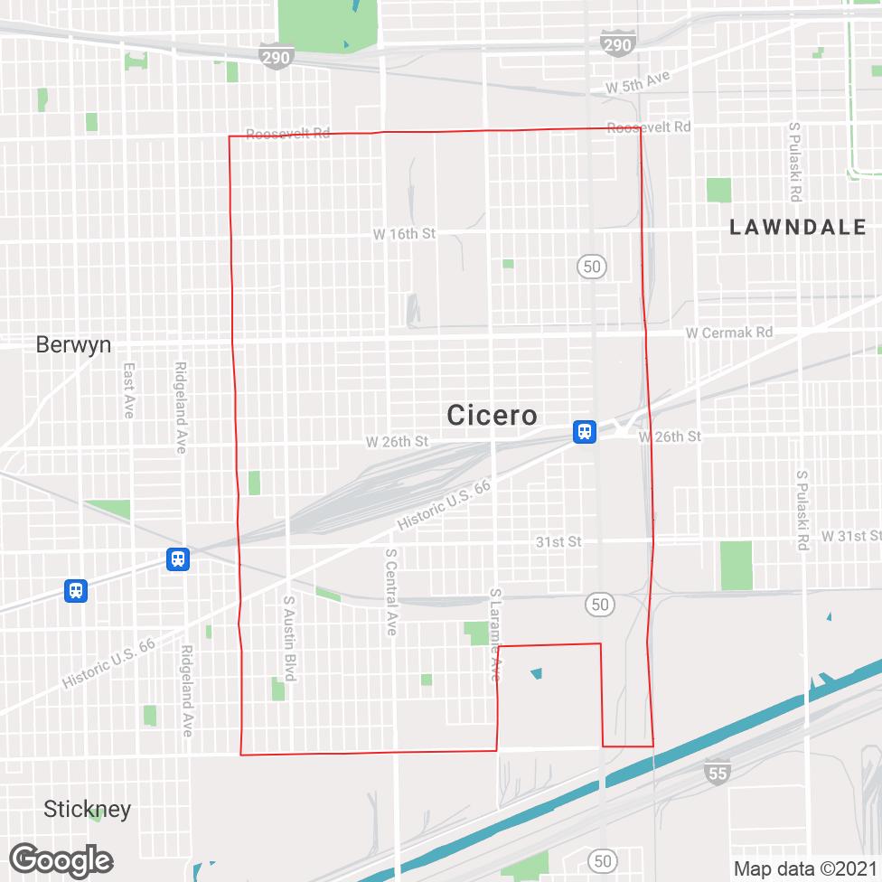 Cicero map