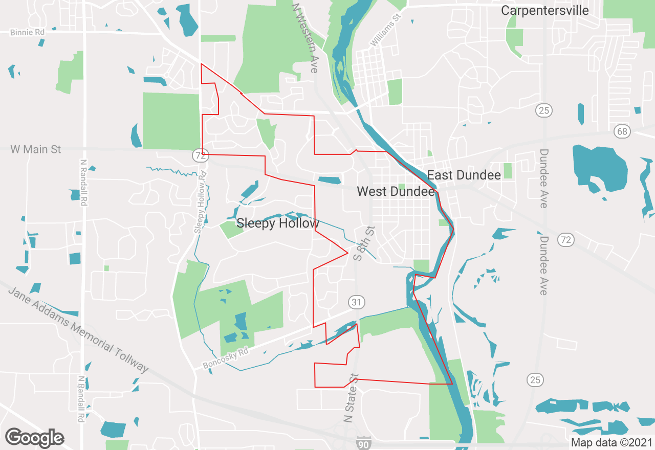West Dundee map