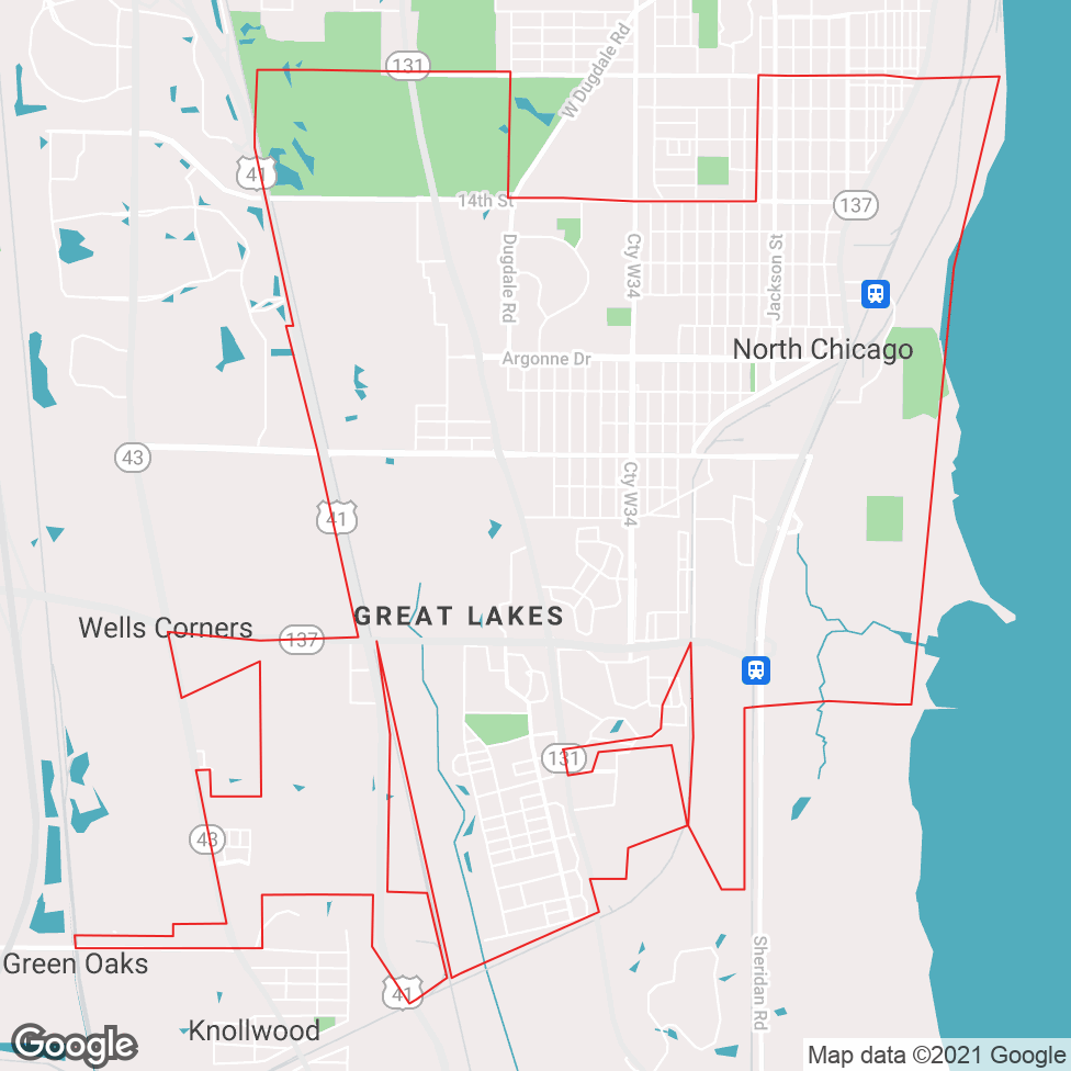 North Chicago map