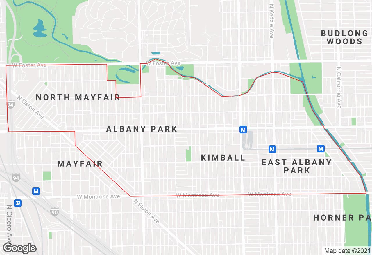 Albany Park map