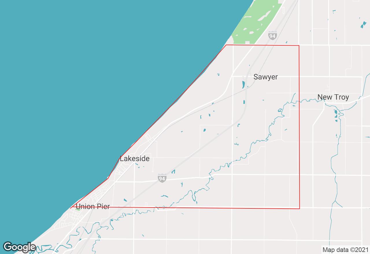Chikaming Township map