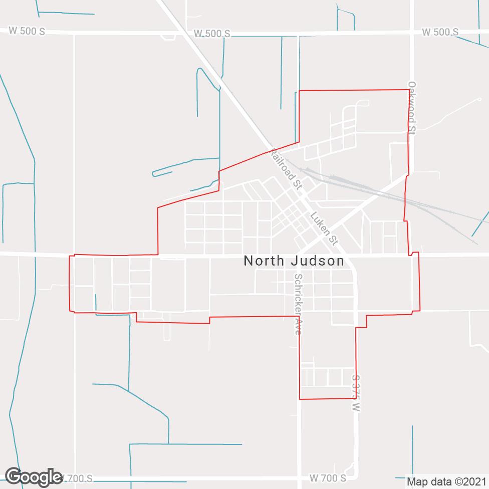 North Judson map
