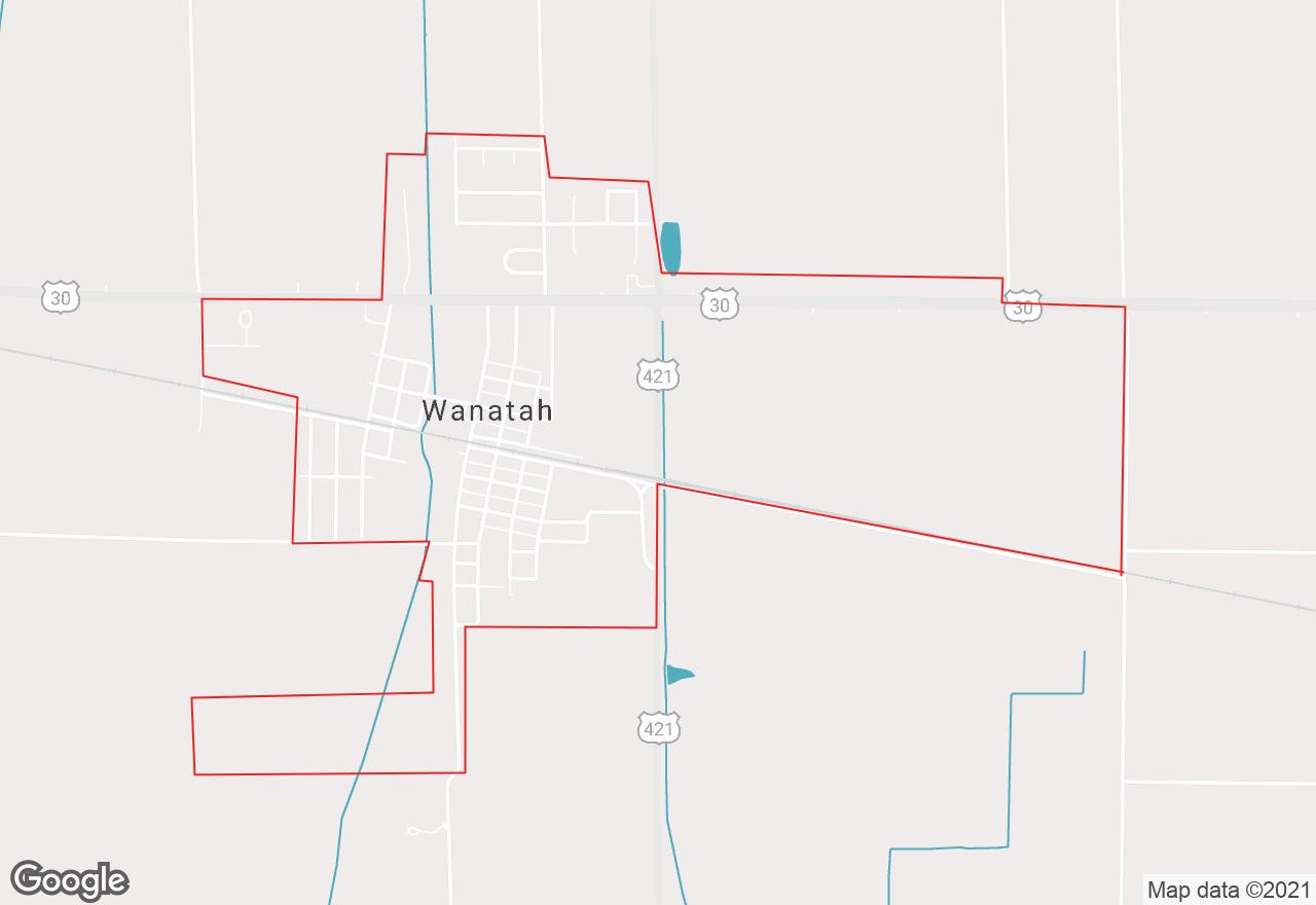 Wanatah map