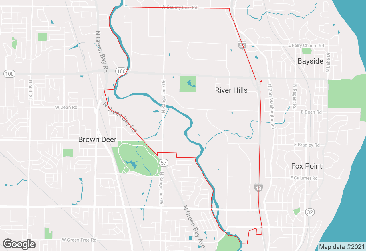 River Hills map