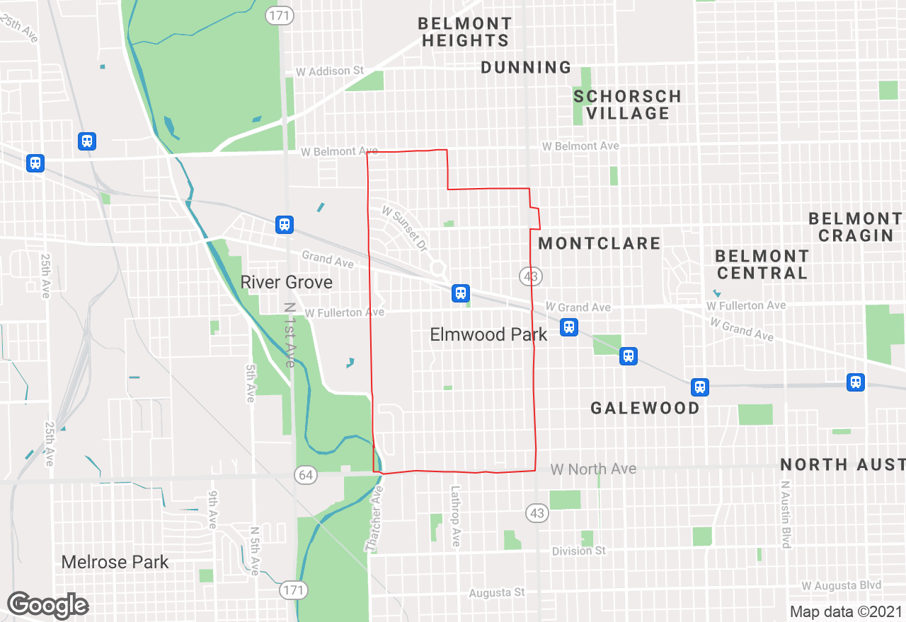 Elmwood Park map