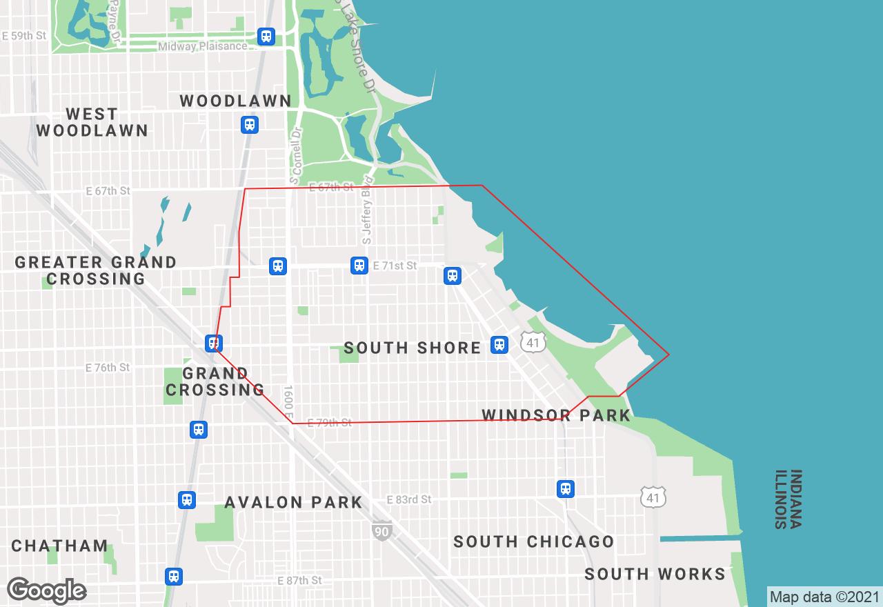 South Shore map