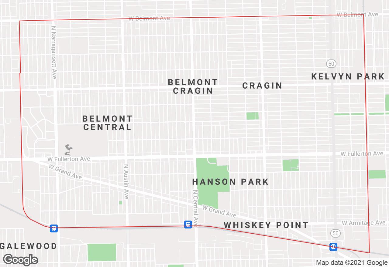 Belmont Cragin map