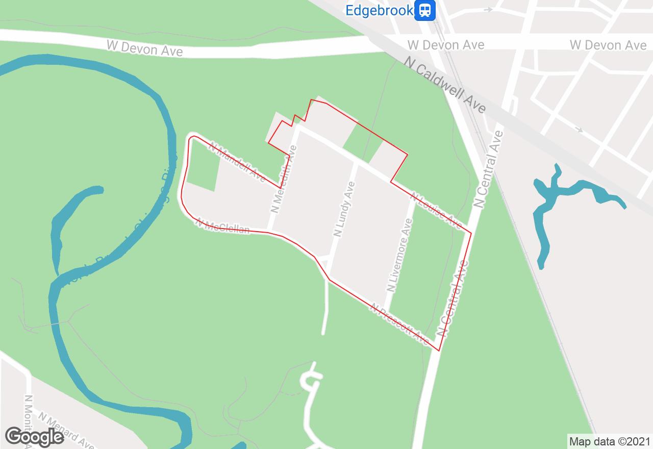 Old Edgebrook map