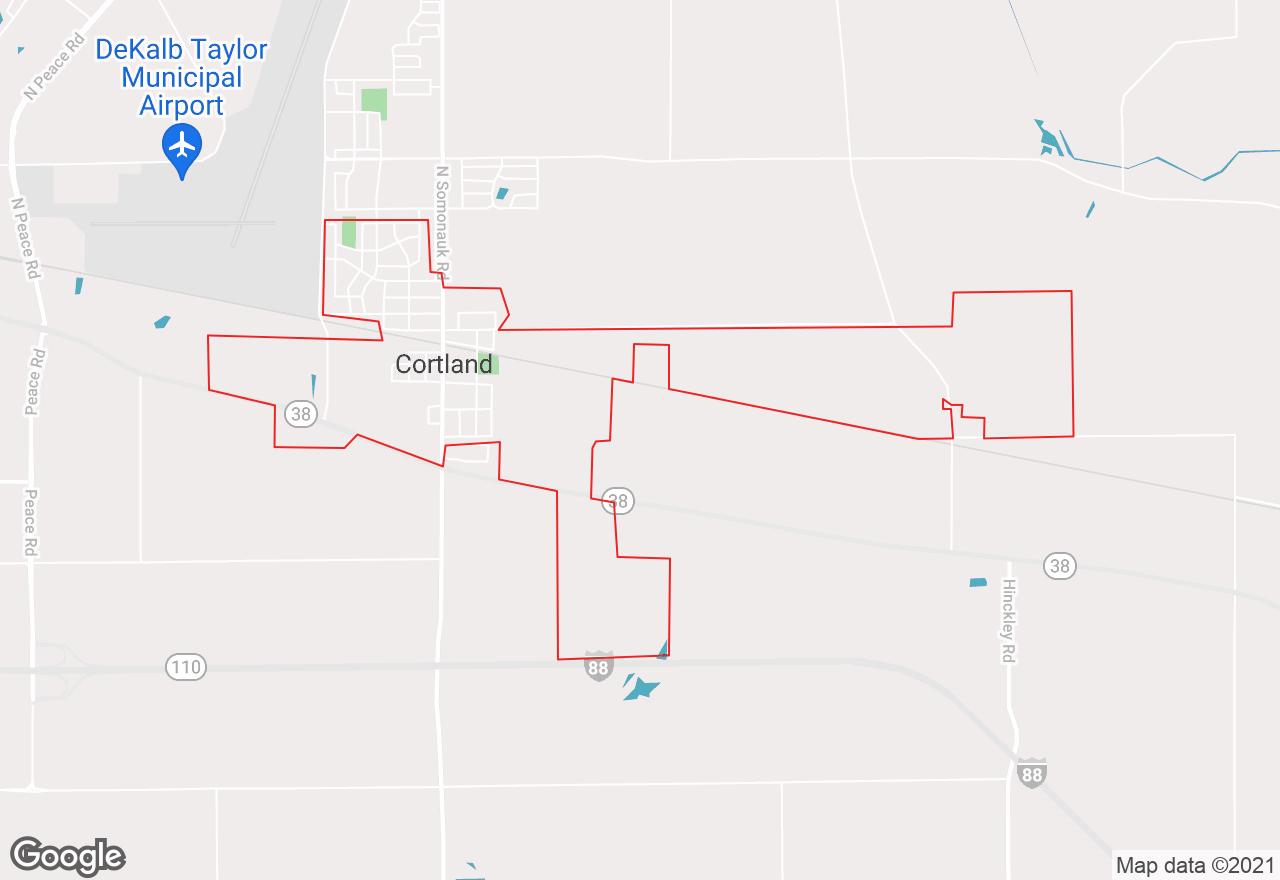 Cortland map