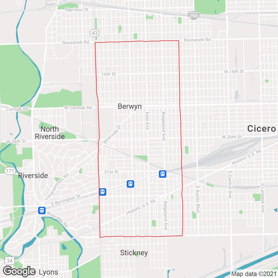 Berwyn map