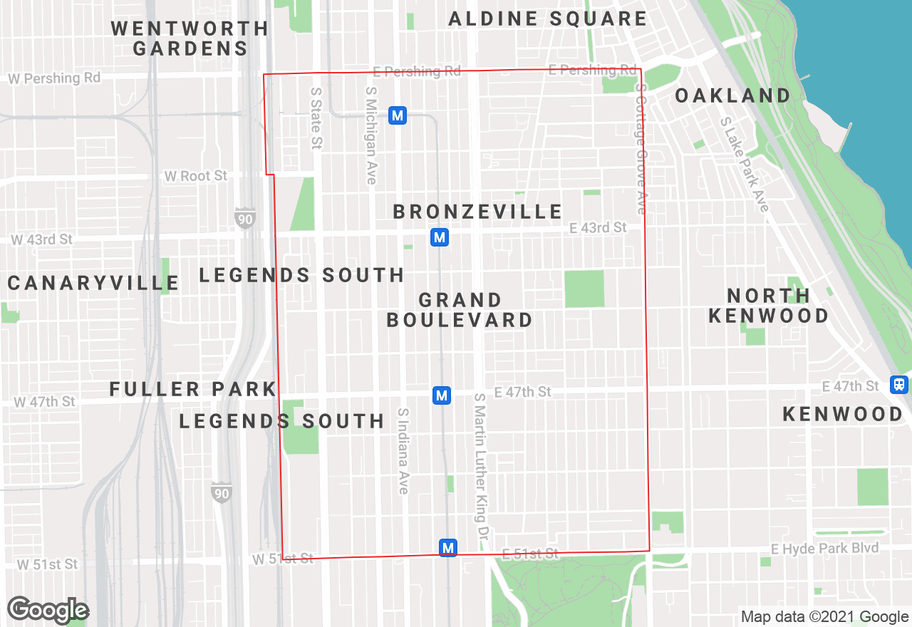 Grand Boulevard map