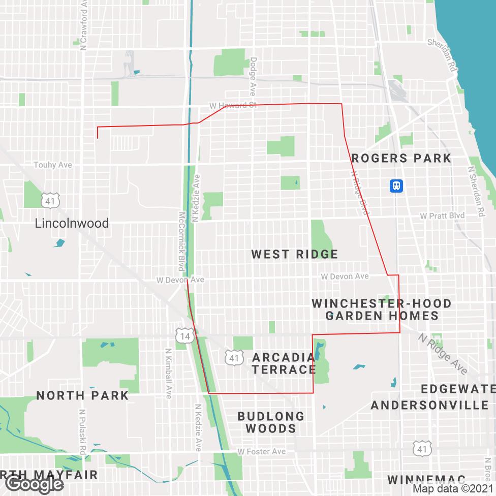 West Ridge map