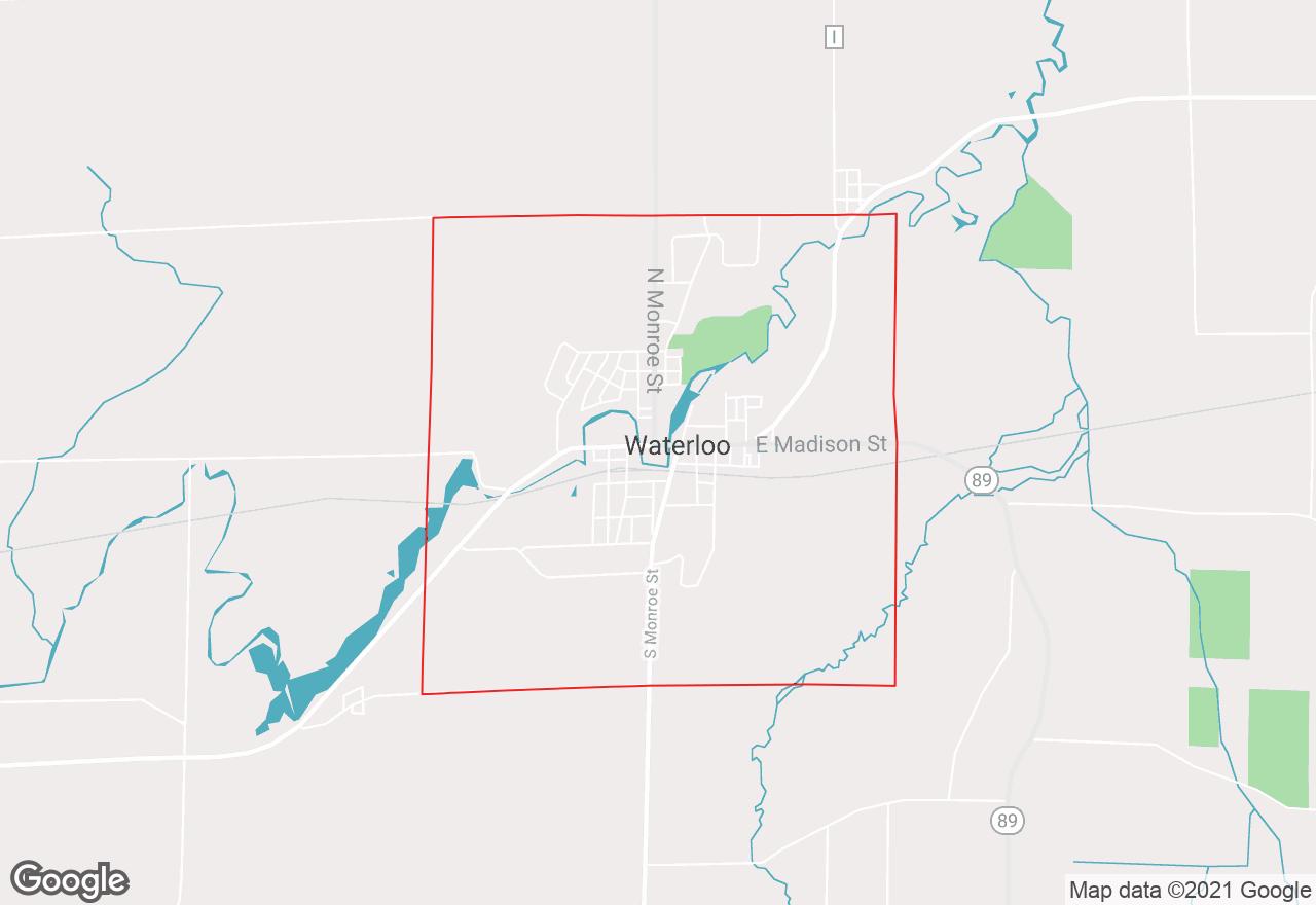 Waterloo map