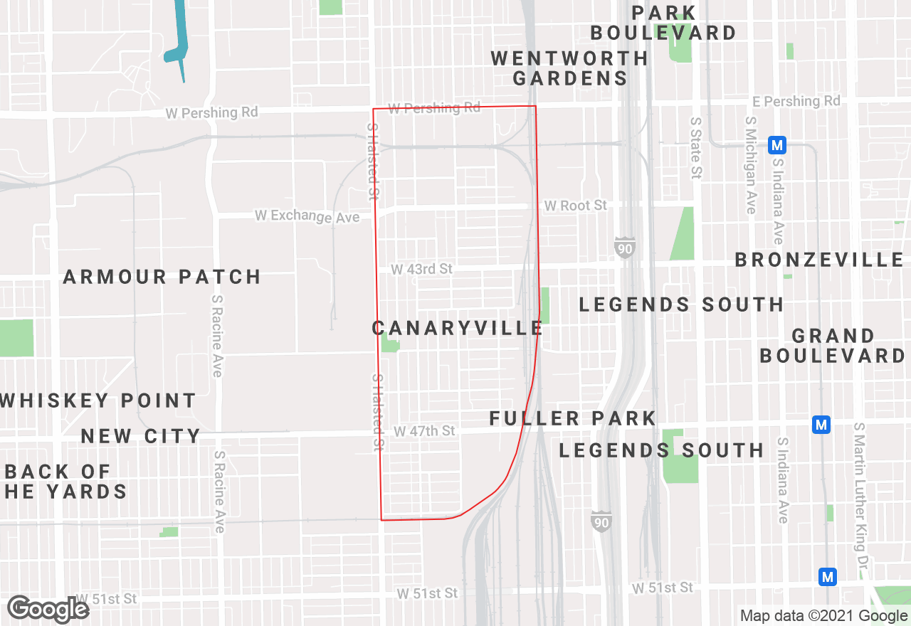 Canaryville map