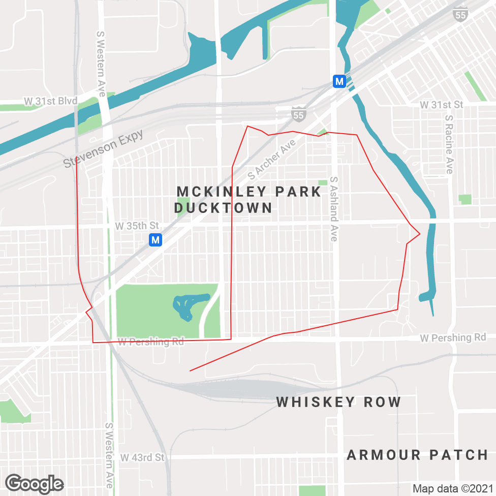 McKinley Park map