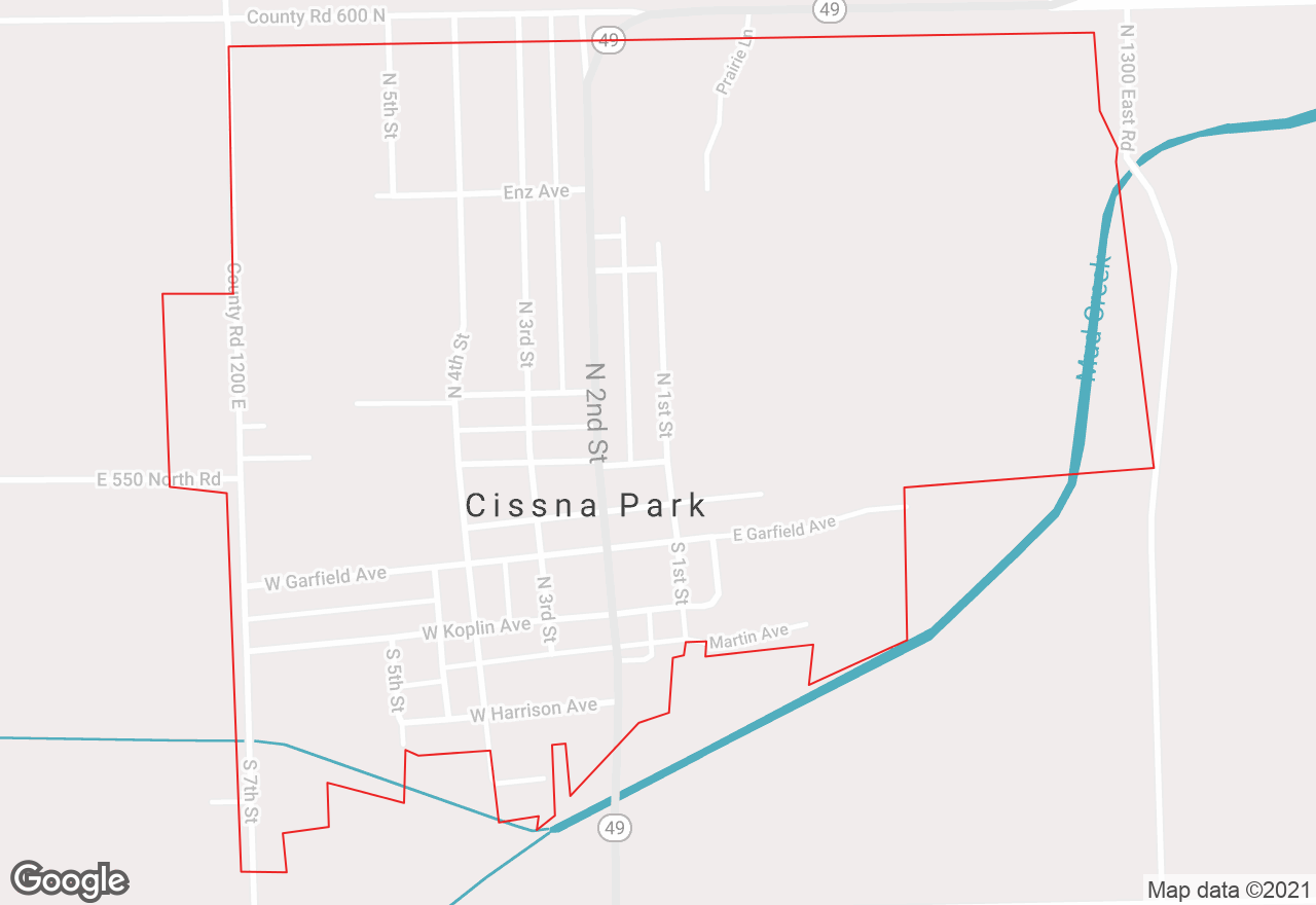 Cissna Park map