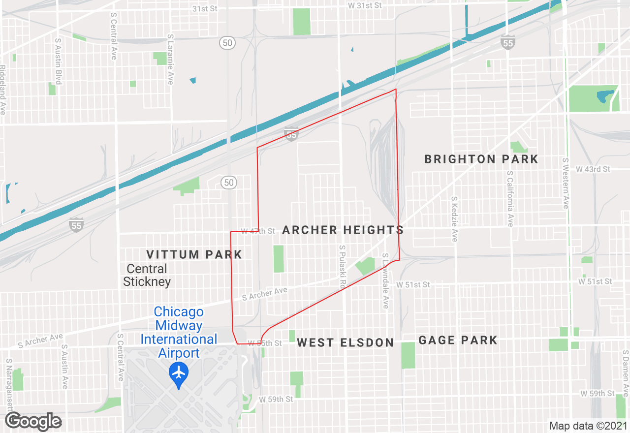 Archer Heights map