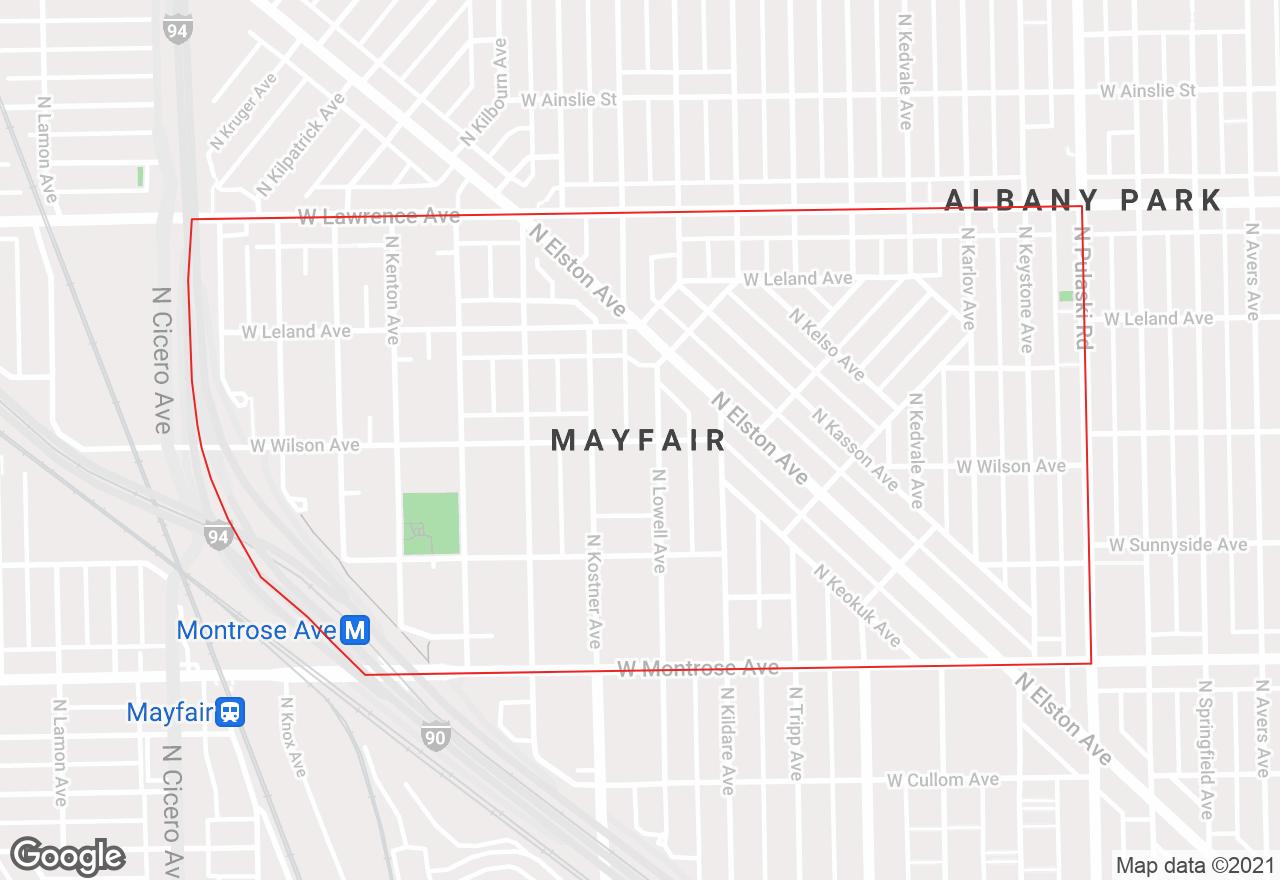 Mayfair map