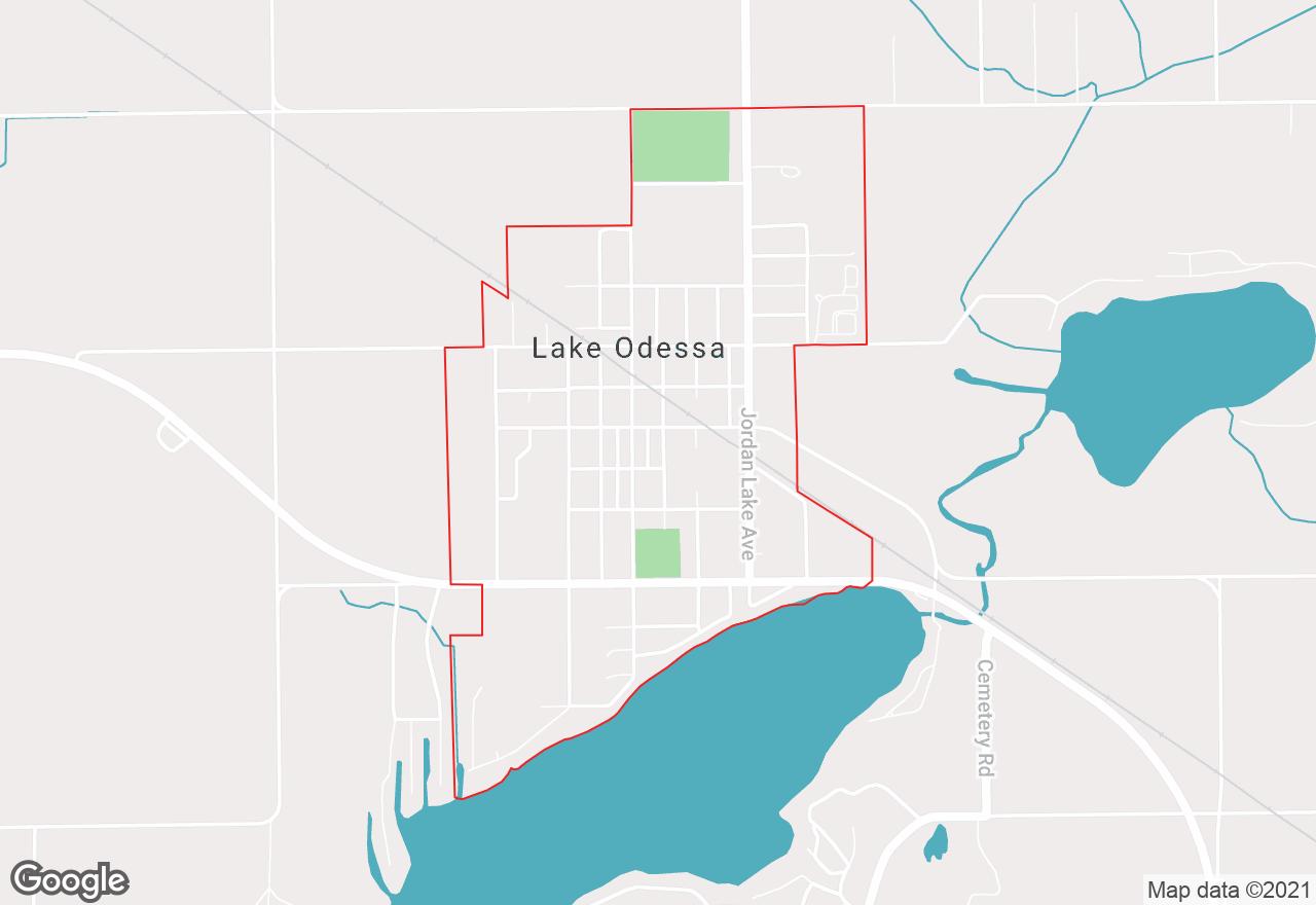 Lake Odessa map