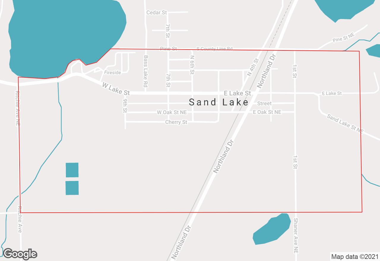 Sand Lake map