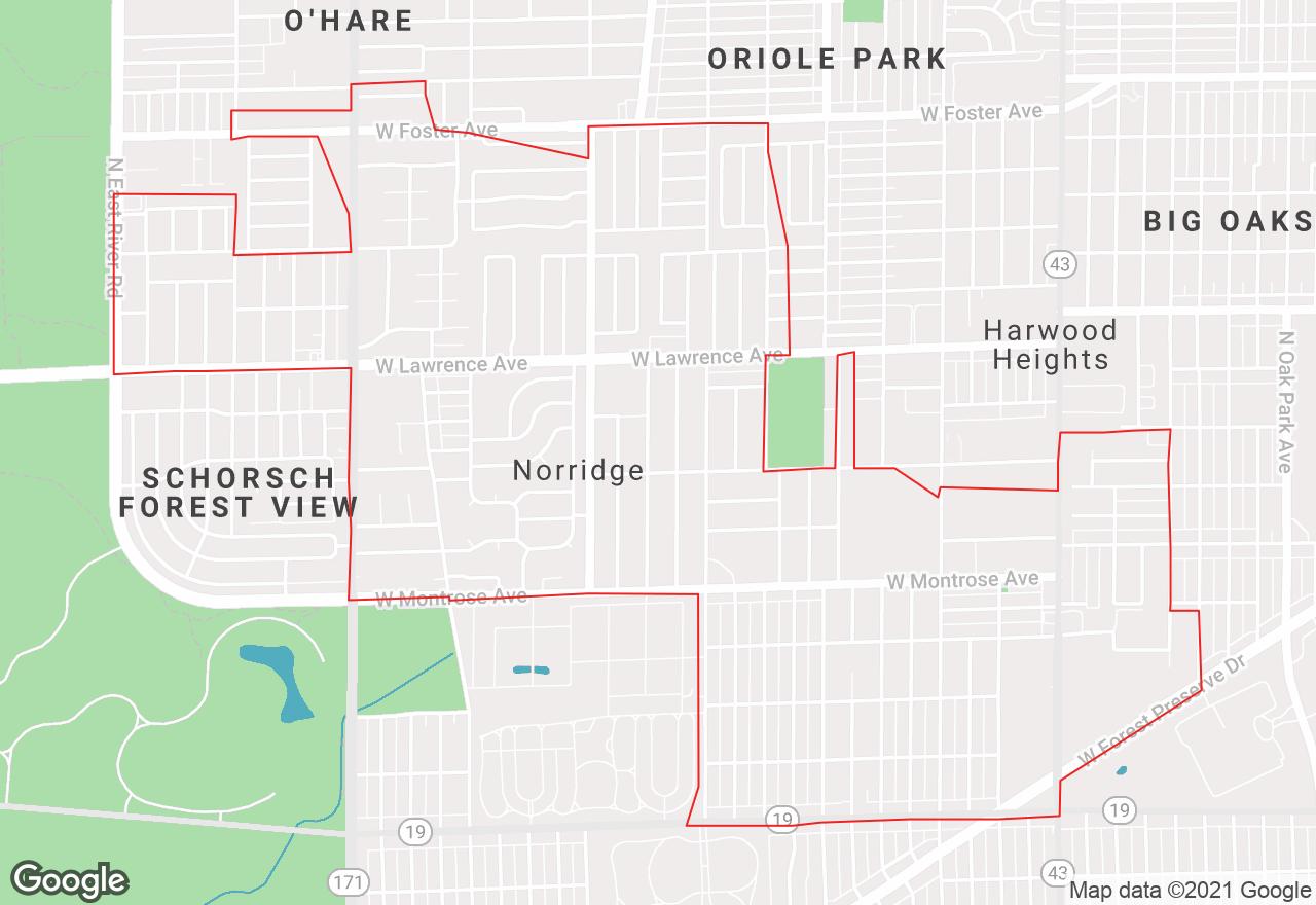 Norridge map