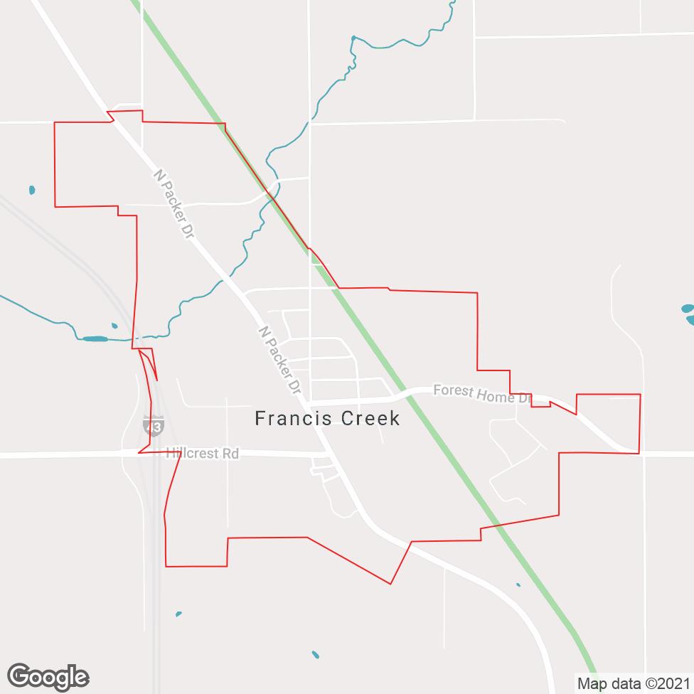 Francis Creek map