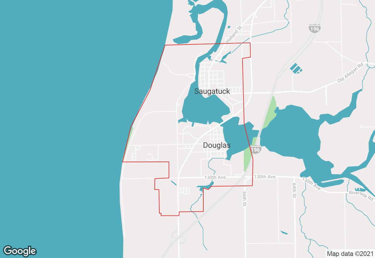 Saugatuck map