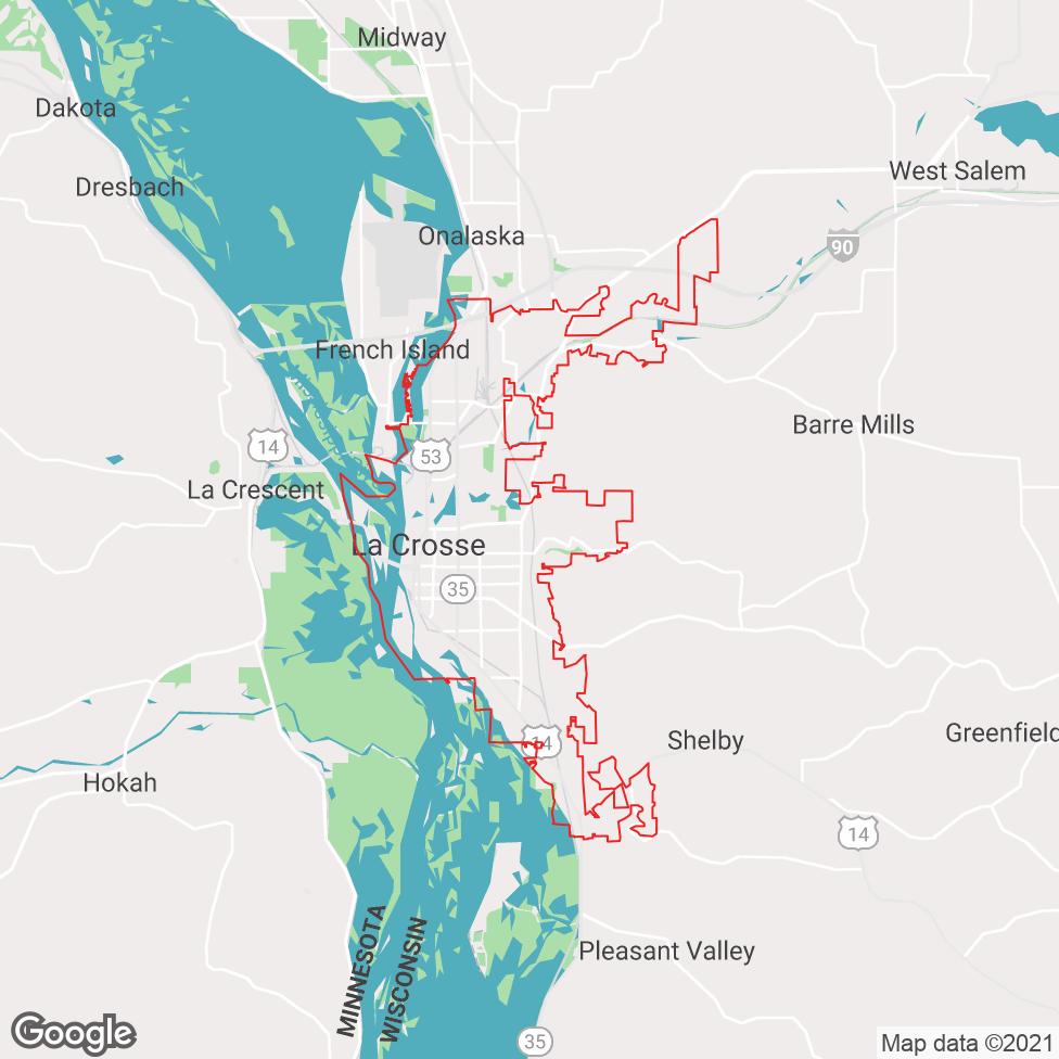 La Crosse map