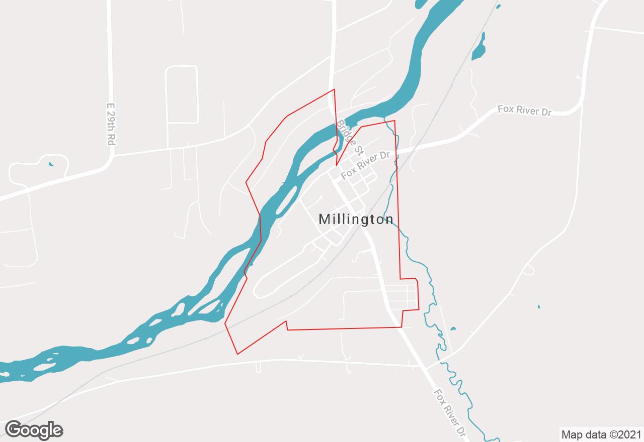 Millington map