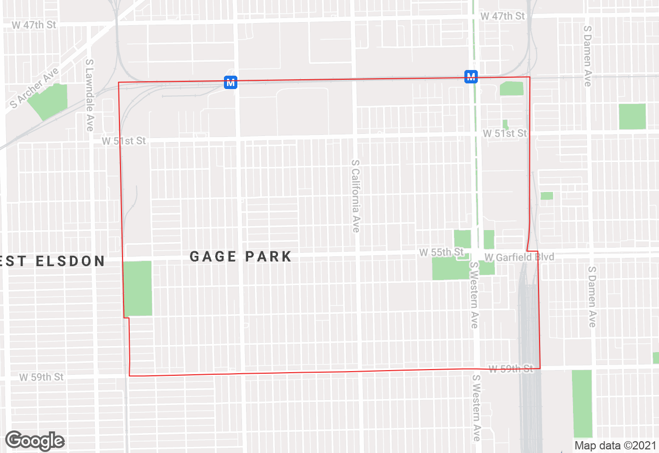 Gage Park map
