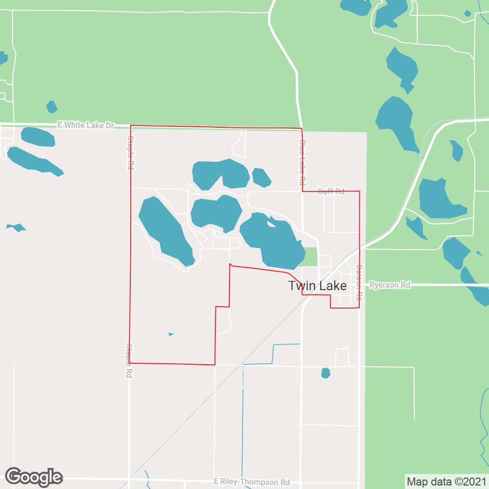 Twin Lake map