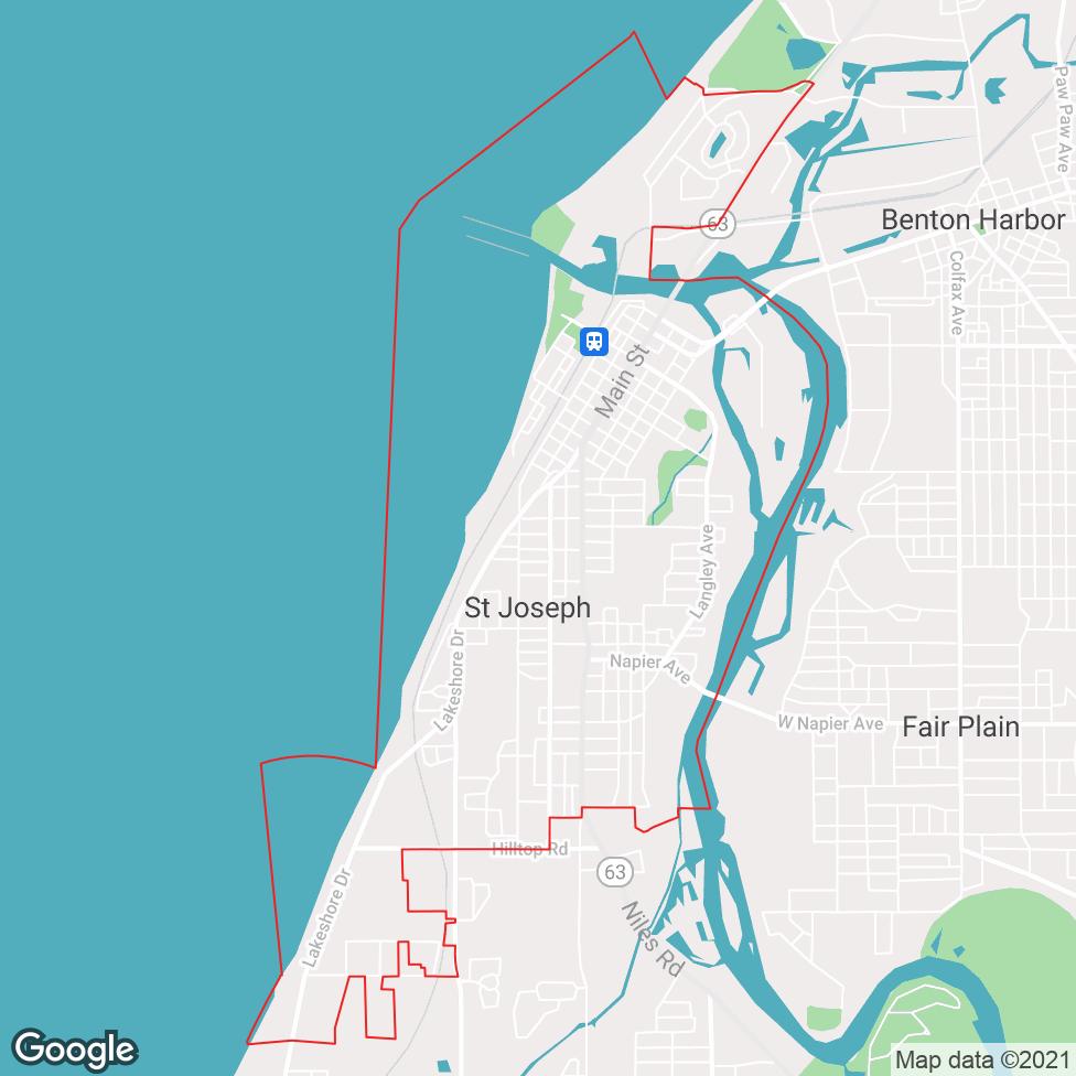 St. Joseph map