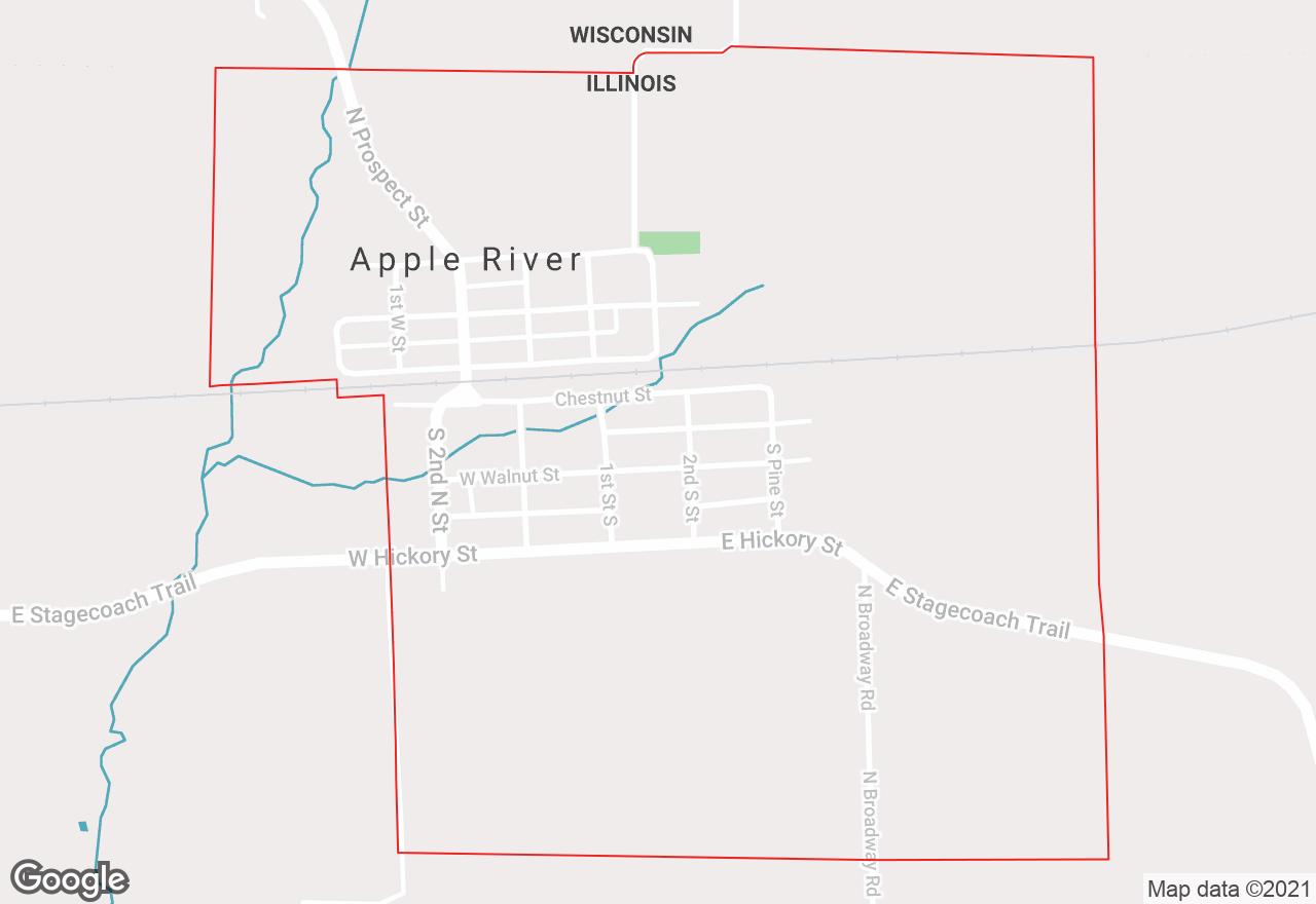 Apple River map