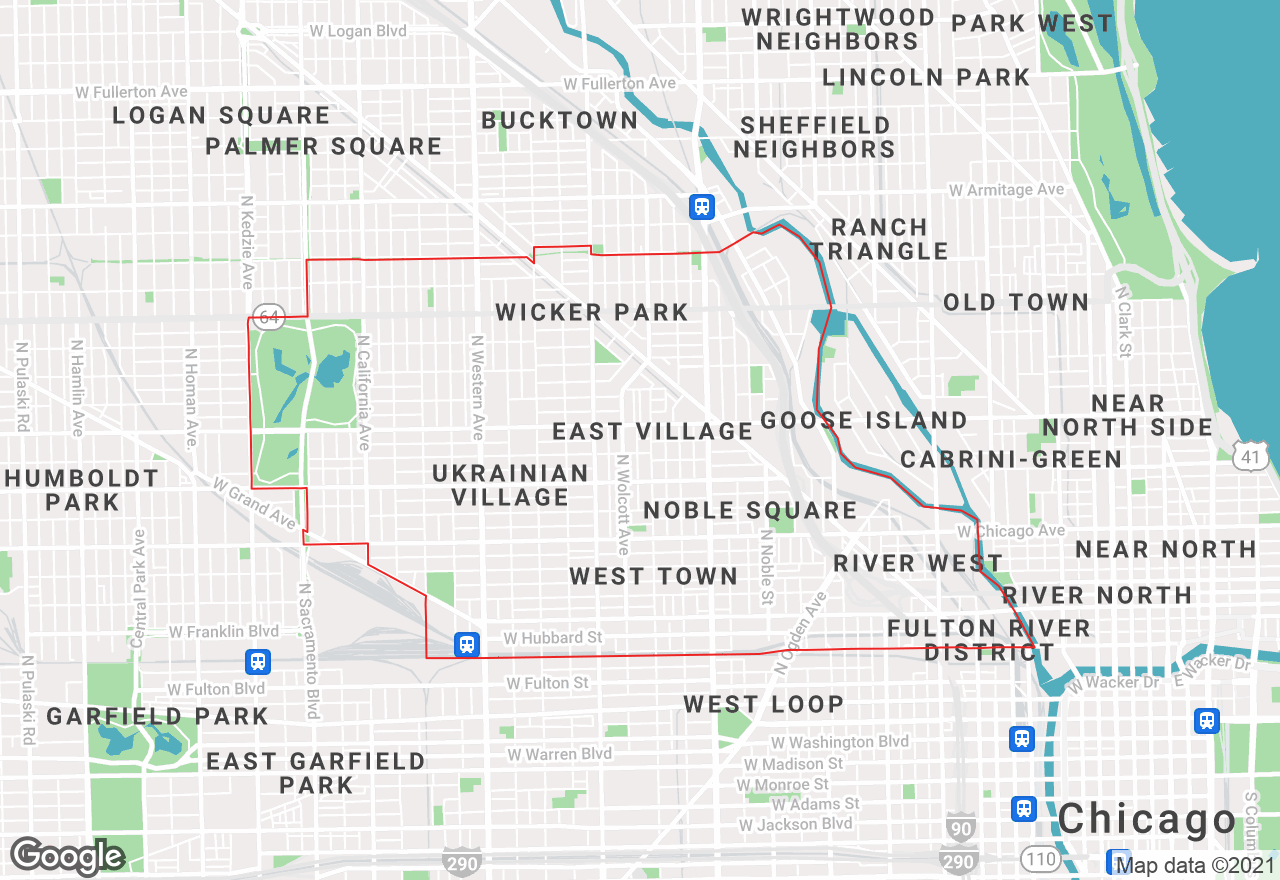 West Town map