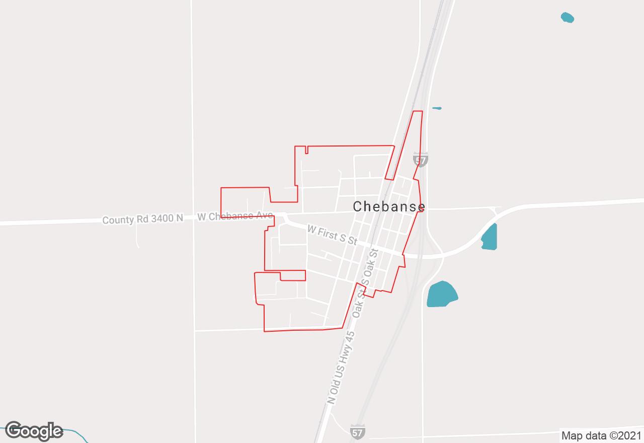 Chebanse map