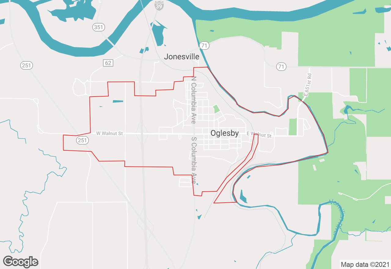 Oglesby map