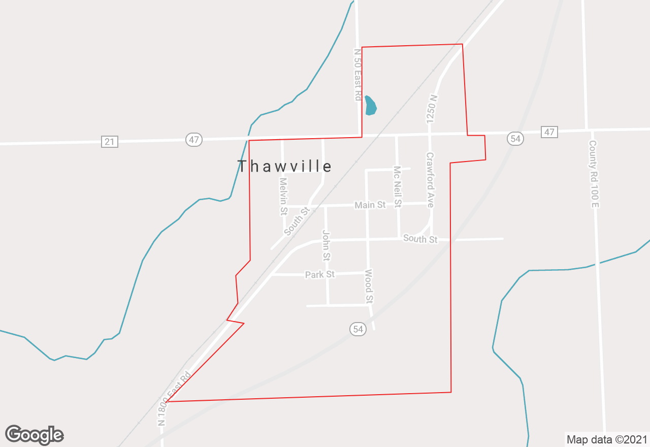 Thawville map