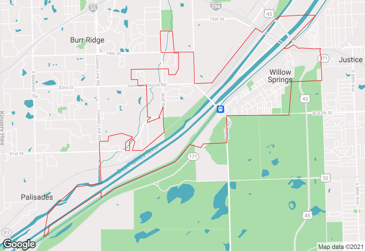Willow Springs map