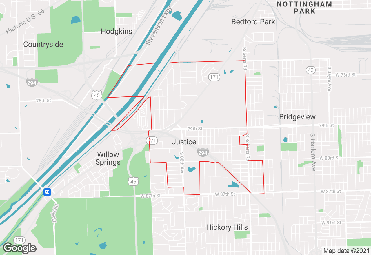 Justice map
