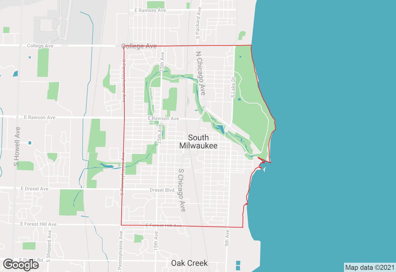 South Milwaukee map
