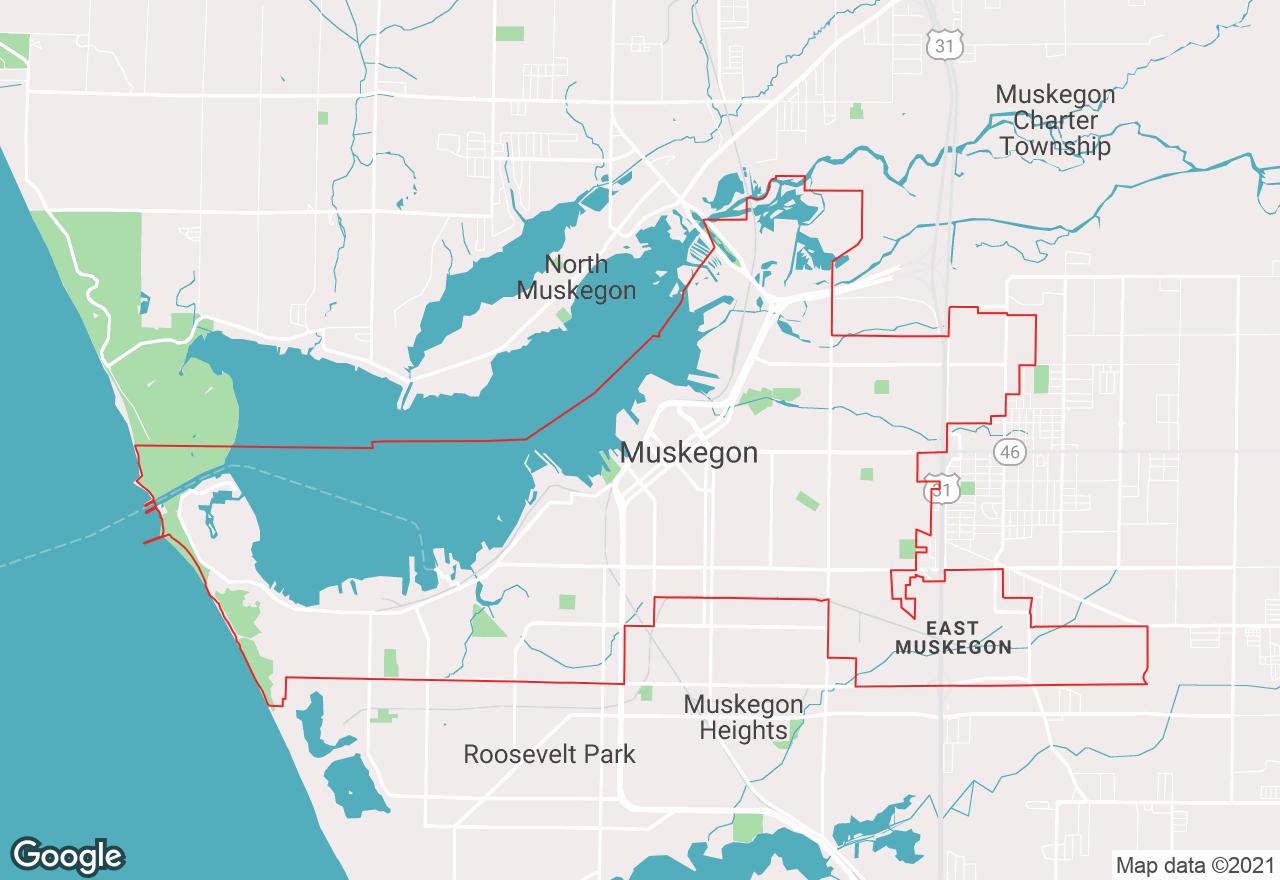 Muskegon map