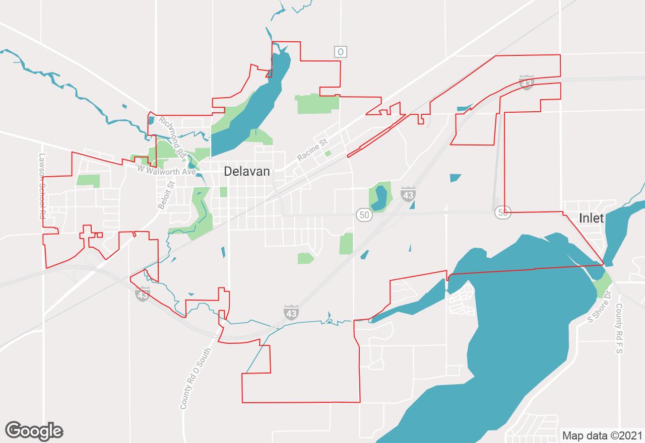 Delavan map
