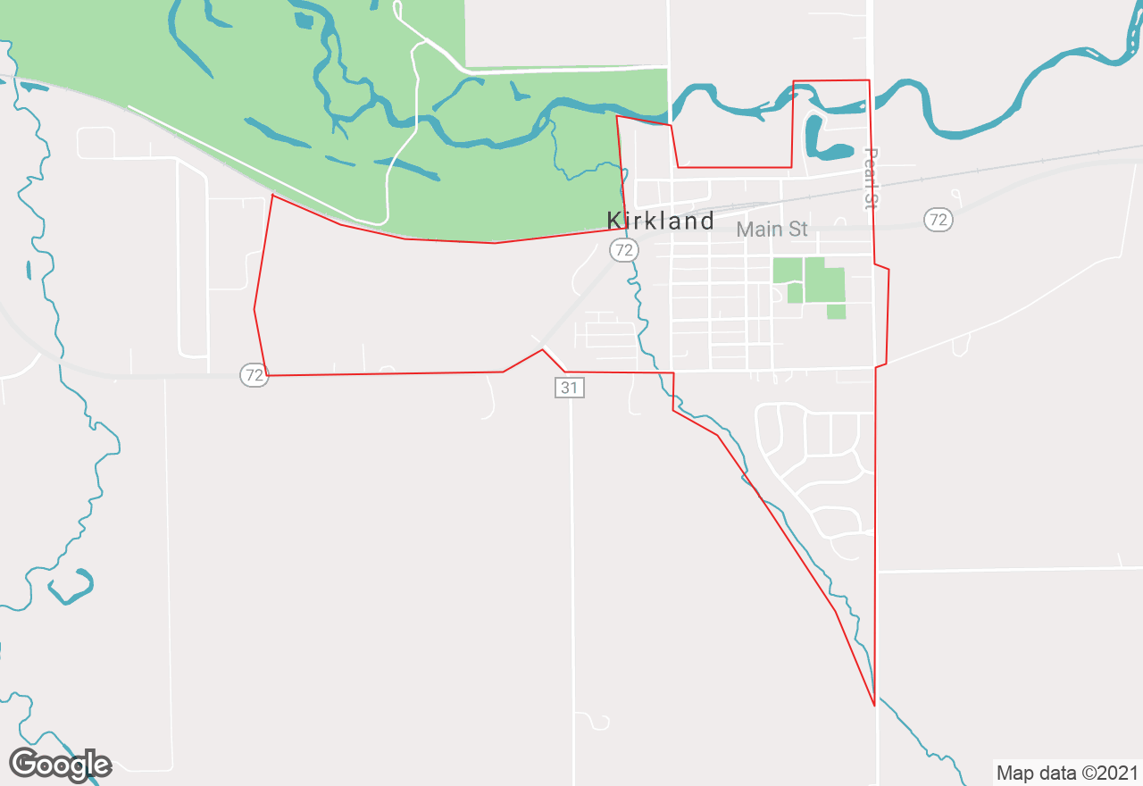 Kirkland map
