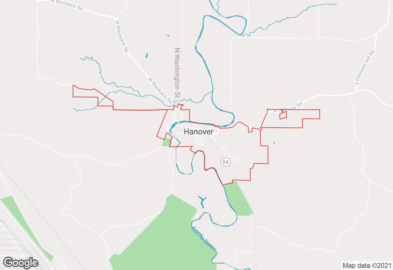 Hanover map