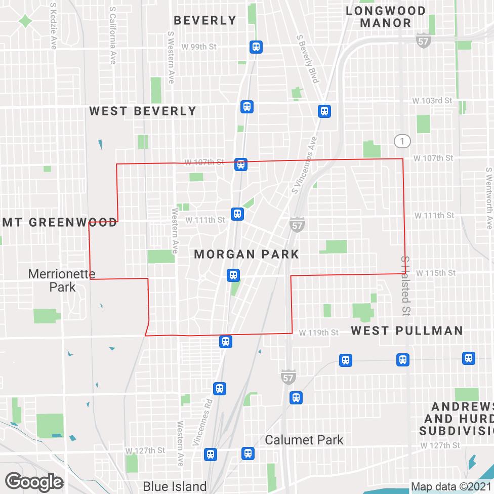 Morgan Park map