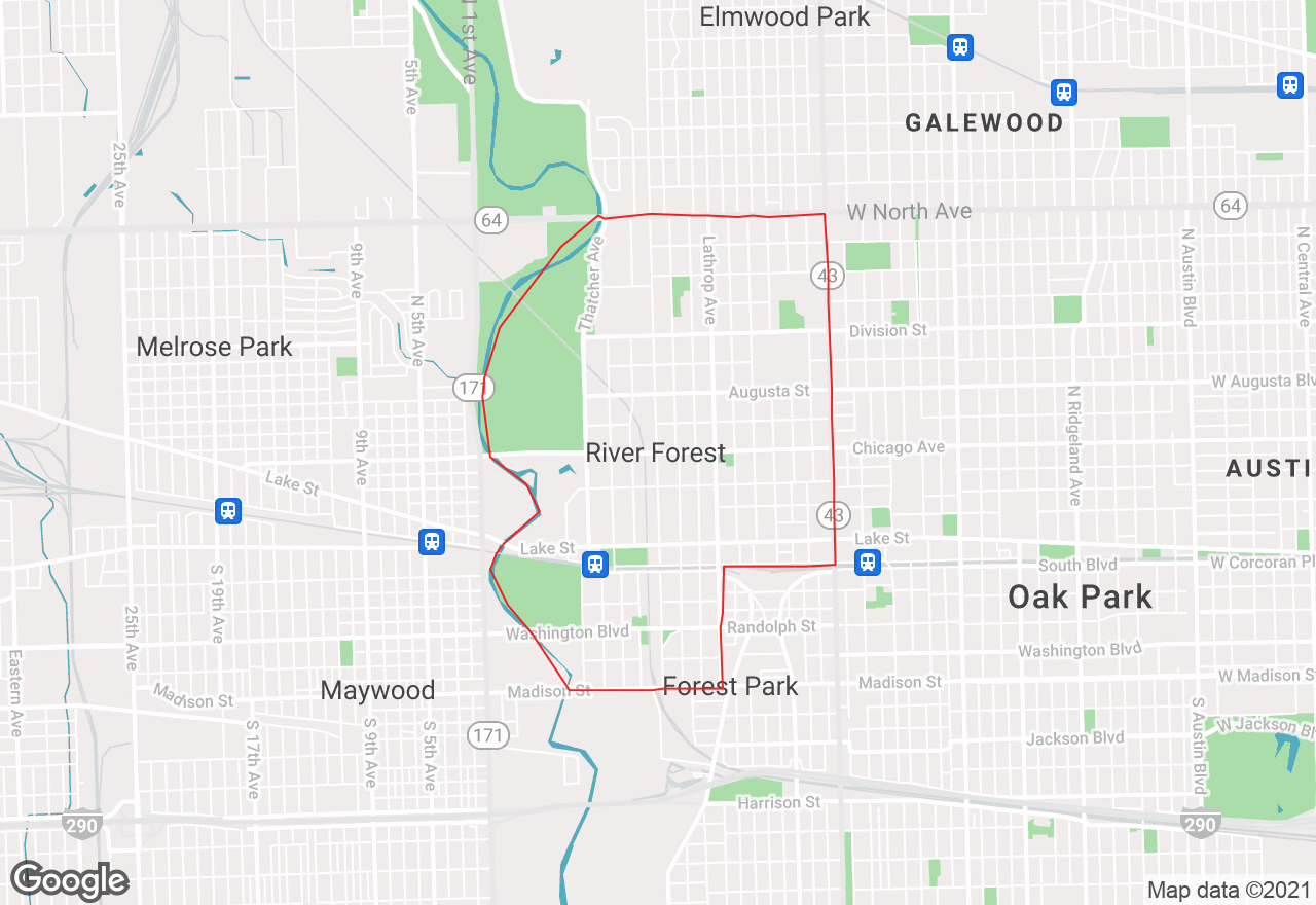 River Forest map