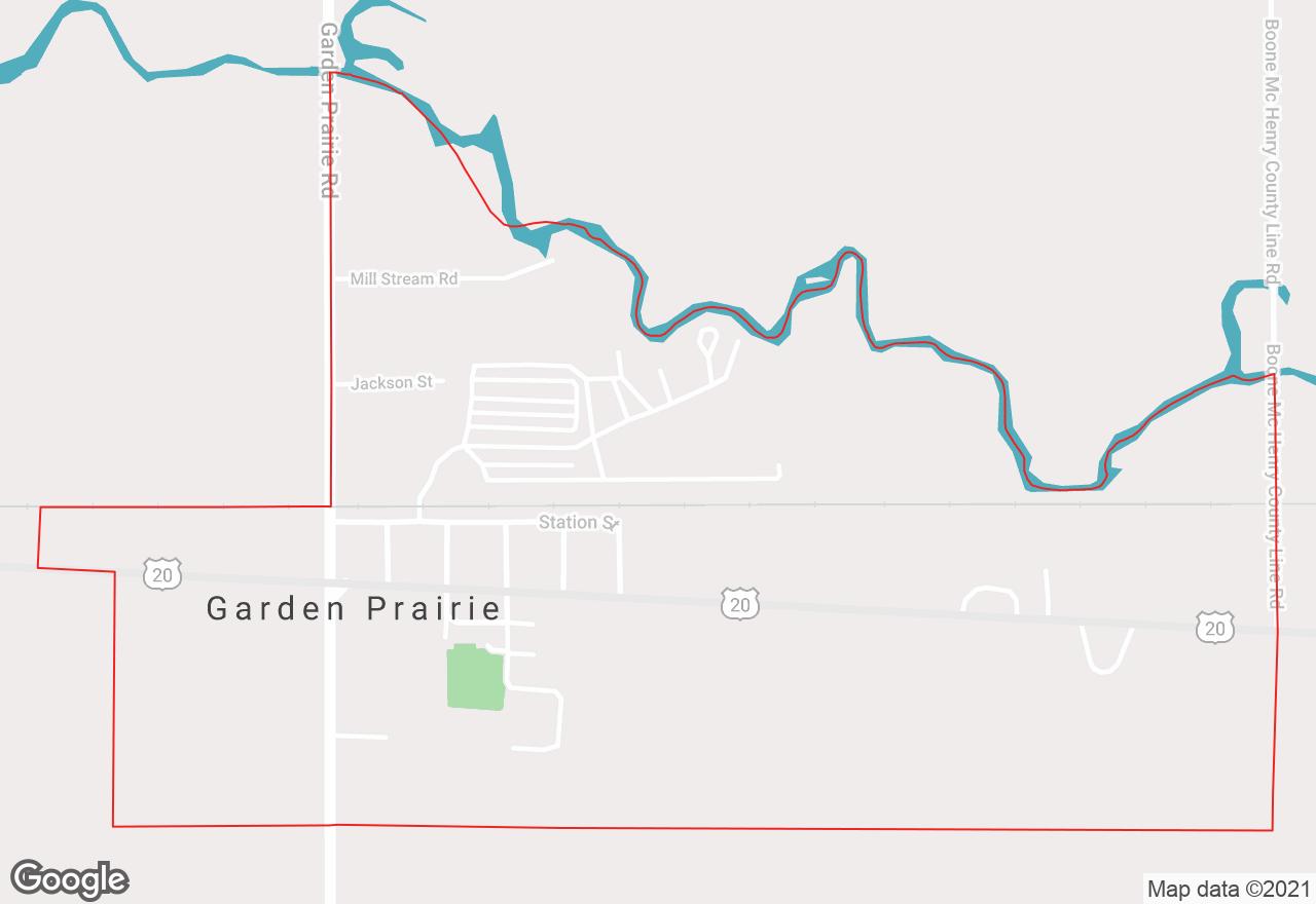 Garden Prairie map